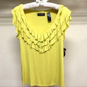 axcess Lemon Peel Color Womens Top Blouse Size M